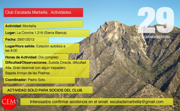 Club Escalada Marbella . Actividades