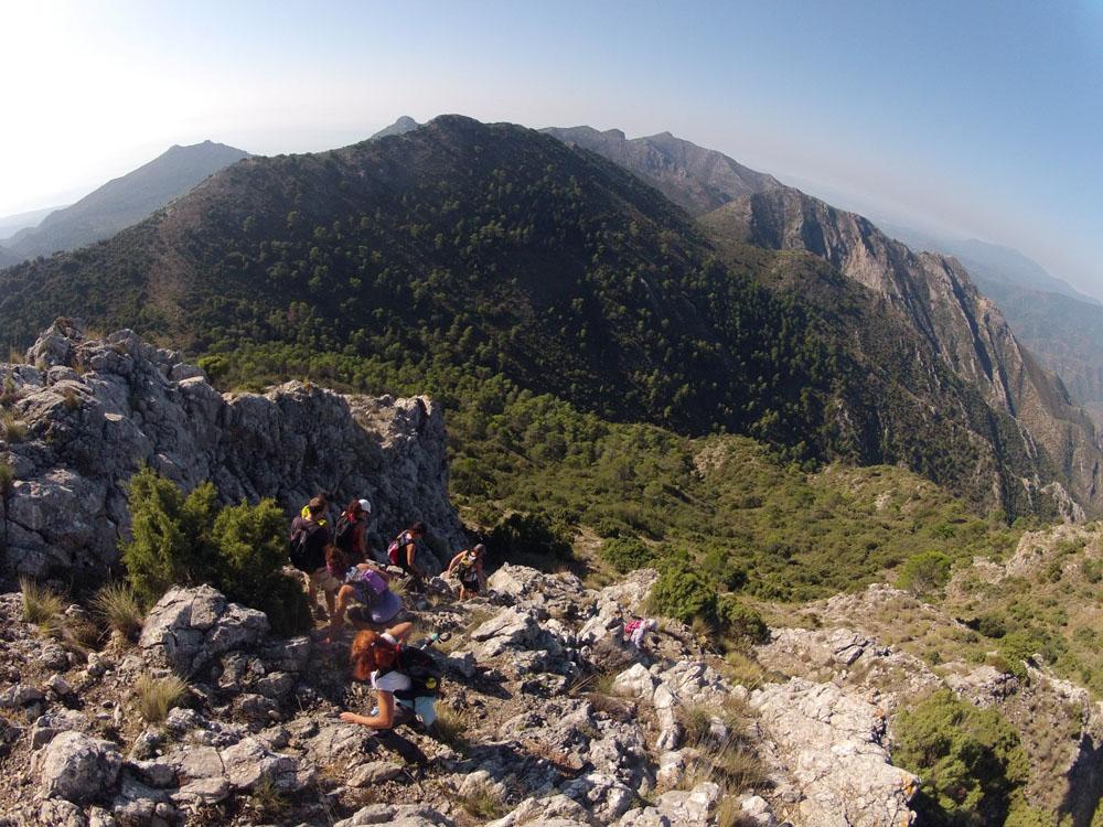 Club Escalada Marbella Subida Pico Cuchillos-Sierra Canucha 2014