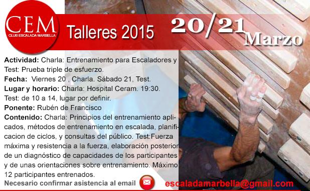 Taller Entrenamiento Escalada 20032015