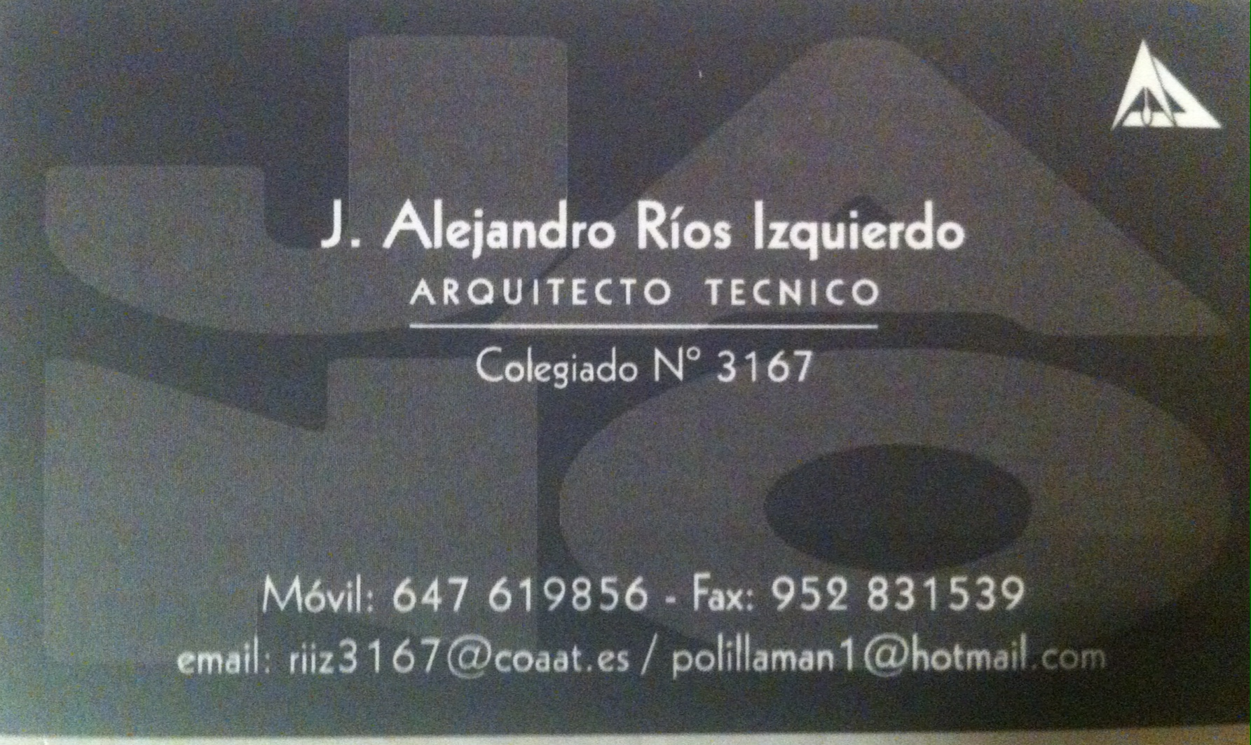J. Alejandro Rios Izquierdo - Arquitecto Técnico