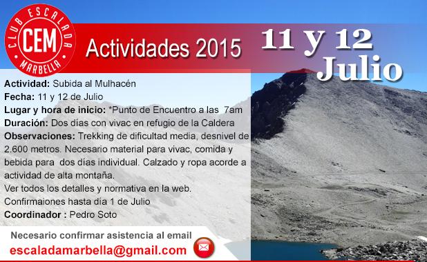 Actividad CEM 12 y 12 de Julio Mulhacen