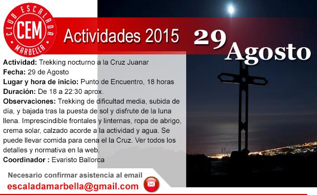 Actividad subida a Juanar nocturna