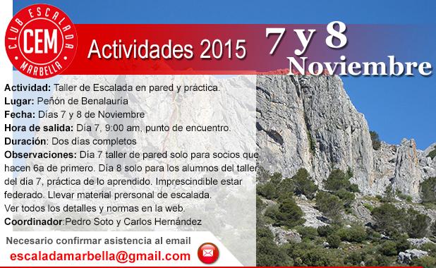Actividad CEM Benalauria 07102015