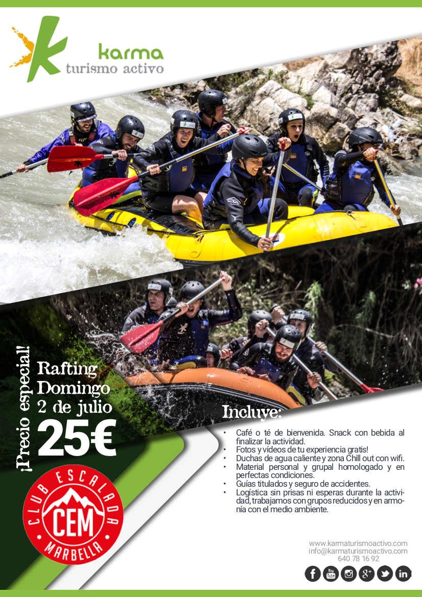 Cartel-Rafting-Karma-Club-Escalada-Marbella-oferta