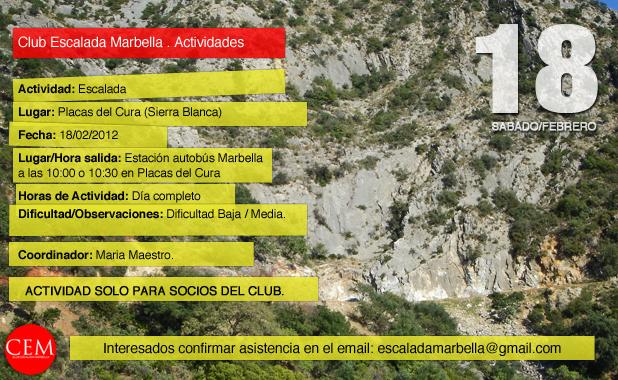 Actividad del CEM,Placas del Cura 18/02/2012