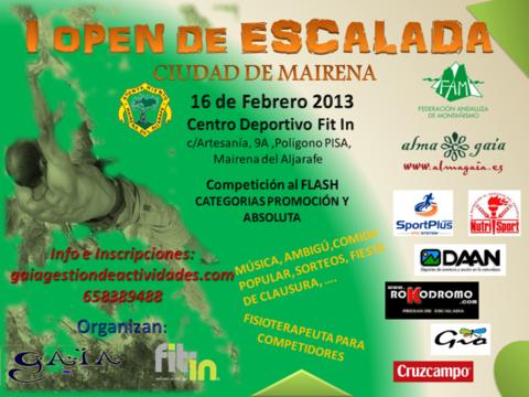 I OPEN DE ESCALADA CIUDAD DE MAIRENA