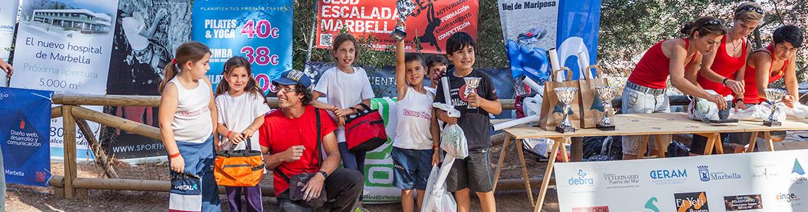 Finalista Categoría Alevín  II Encuentro de Escalada Marbella 2014