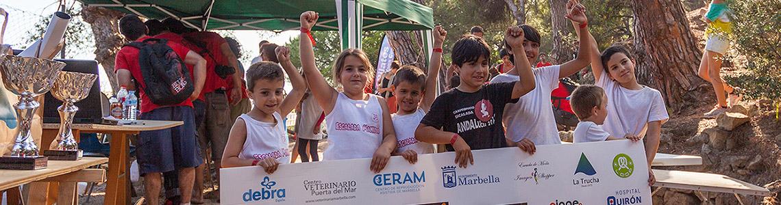 Finalistas Categoría Infantil II Encuentro de Escalada Marbella 2014