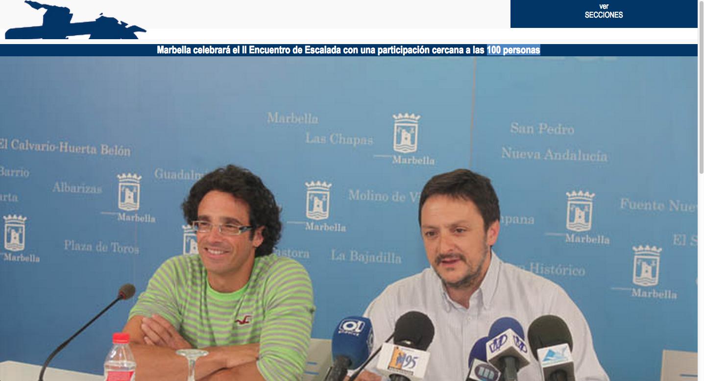 Marbella celebrará el II Encuentro de Escalada con una participación cercana a las 100 personas