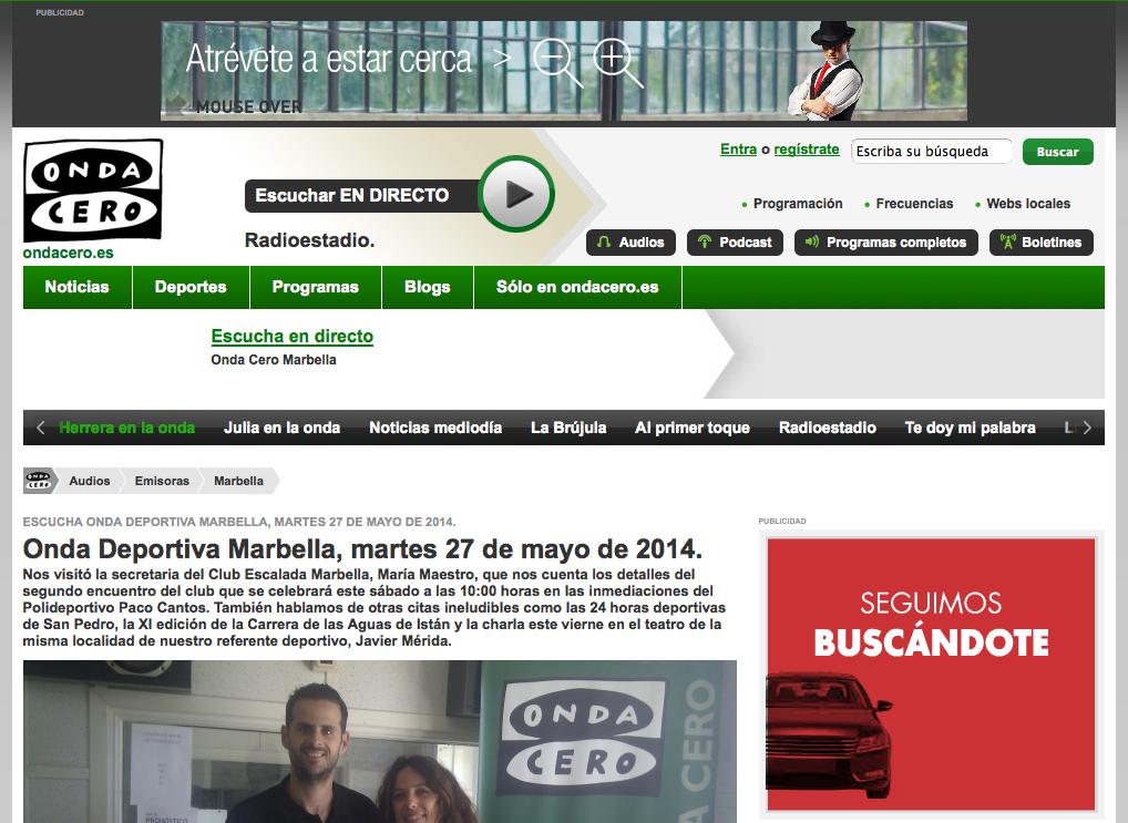 Encuentro 2014 en Onda Deportiva Marbella, martes 27 de mayo de 2014