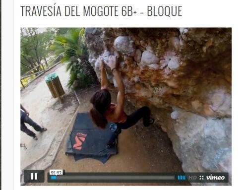 TRAVESÍA DEL MOGOTE 6B+ – BLOQUE