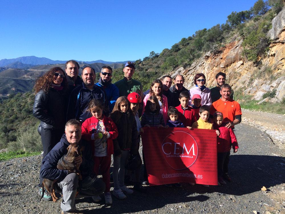 Actividad del Club Escalada Marbella - Placas del Cura Istán