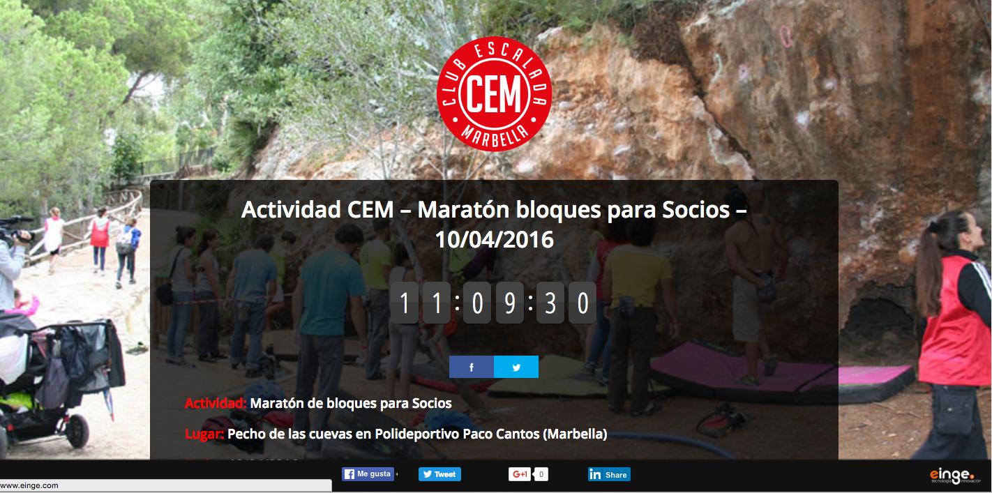 Actividad CEM – Maratón bloques para Socios – 10/04/2016